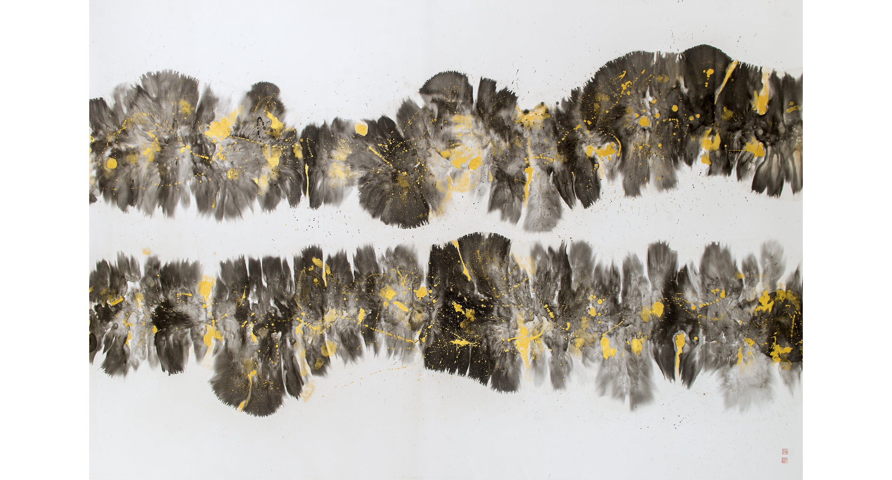 Through A Wormhole <br/> Chinese ink on rice paper<br/> 208 cm x 300 cm<br/> ©Chloe Ho 2020